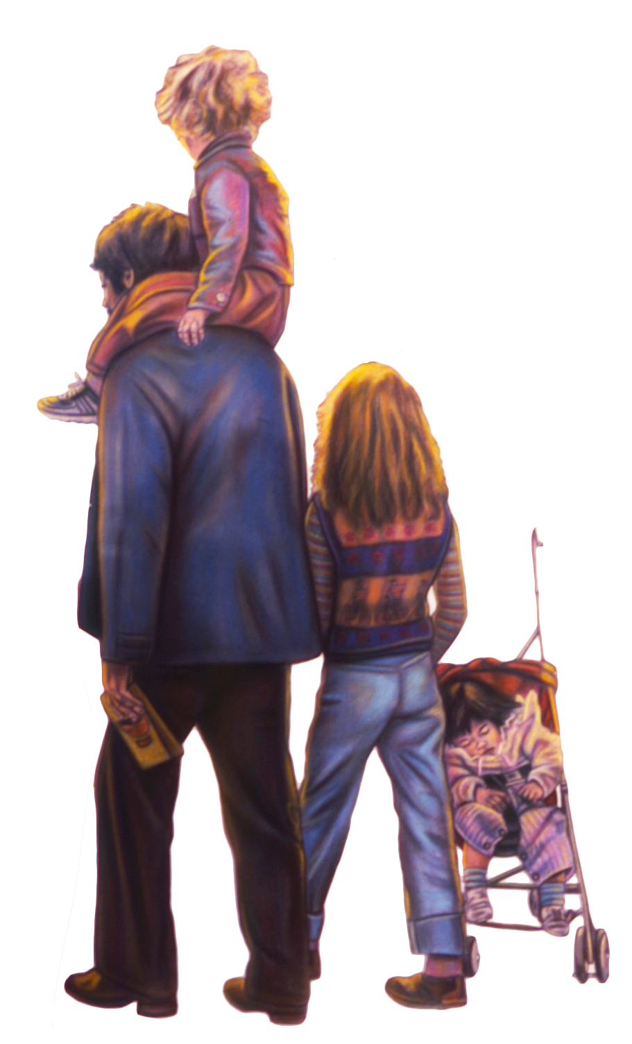 Father and Kids 86.6x49 1986(1)